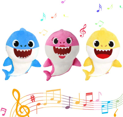 Toy With Music Cute sharks Animal Plush English Song For Gift Children