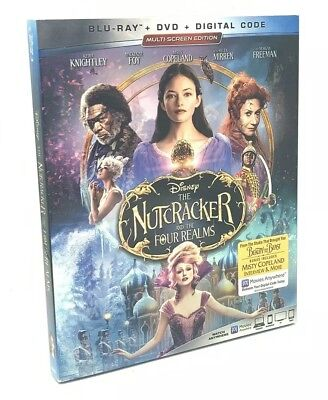 Nutcracker and the Four Realms, The (Blu-ray+DVD+Digital, 2019) NEW w/ Slipcover