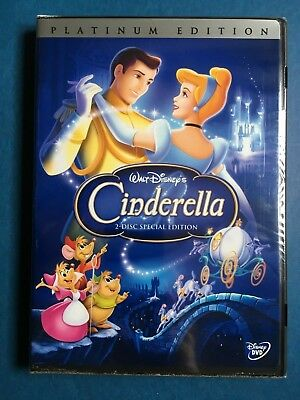 Disney CINDERELLA DVD, 2005, 2-Disc Set Special Edition,Platinum Factory Sealed!
