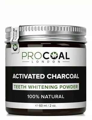 Activated Charcoal Teeth Whitening Powder by PROCOAL - 100% Natural Whitener...