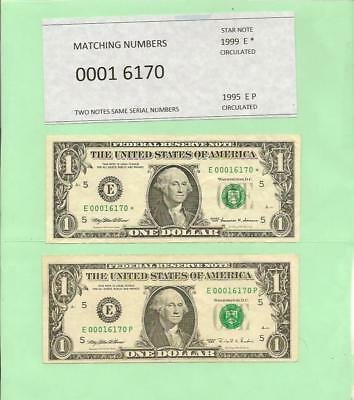 Matching '0001 6170' ... 1999* $1  Star Note & 1995 $1 .... '00016170'