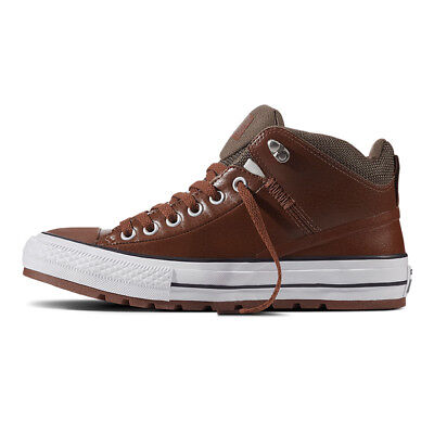 detailed look dc5c9 ee75c Converse Homme Robuste Baskets Chuck Taylor All Star Rue Bottes Haut Marron