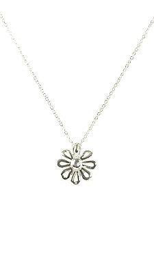TIFFANY & CO. Women's Paloma Picasso Sterling Silver Daisy Necklace $200 NEW