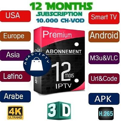 Iptv Subscription 12 months world iptv🔥Smart iptv Android Box M3u 1 year iptv🔥