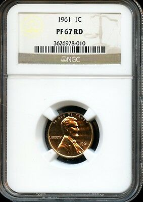 1961 1C Ngc Pf 67 Rd (Proof 67 Red) Lincoln Memorial Cent Ow465