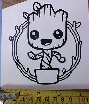 car window decal, marvel gotg baby groot vinyl sticker, laptop, wall