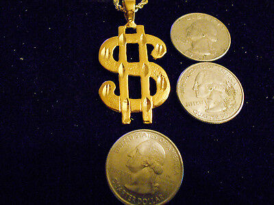 bling gold plated MONEY dollar sign RAP FASHION charm pendant necklace JEWELRY