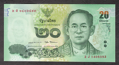 Thai 20 Baht Banknote Collectable In Mint Condition