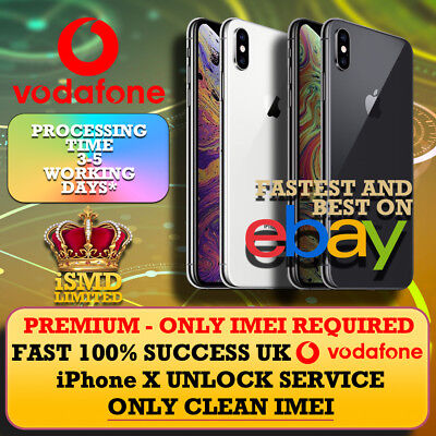 Fast Unlock Uk Gb England Vodafone Iphone X Unlocking Imei Service
