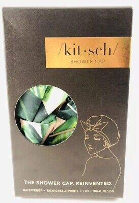 Kitsch Luxe Shower Cap (Palm Leaves) Palm Leaves, New!