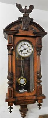 nice quality walnut cased vienna wall clock