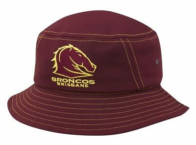 fcf01e6bb1b NRL BRISBANE BRONCOS 2018 Supporter Bucket Hat   SALE PRICE ...