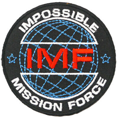 Impossible Mission Force 8cm x 8cm Patch Embroidered Sew or Iron on Badge