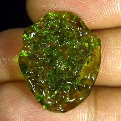 12.40 Ct Natural Man Made Moldavite Superior Cabochon Gemstone Kalagems