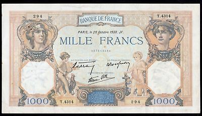 France. Banque De France. 1,000 Francs. 20-10-1938. 107843294. (Pick 90c). VF...