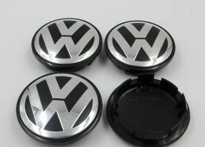 Wheel Centre Caps X4 65mm Golf MK6 MK5 for VW. Condition is New.
