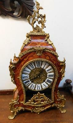 large boulle styled bracket clock striking on 2 bells