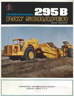 Brochure - International Pay Scraper 295B - 1968 USA  Harvester-Fiorentini