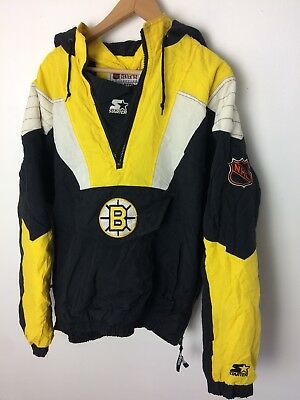 Vintage 90 s BOSTON BRUINS Starter Center Ice Jacket Size Medium NHL Hockey d59a960a2