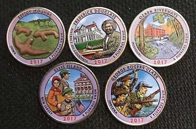 2017 P Colorized National Park Quarter Set
