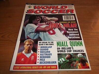 Football Magazine World Soccer July 1994 Champions Cup Report Baggio Beckenbauer