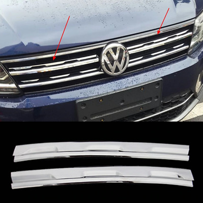 Stainless Steel VW Tiguan Front Grill For Volkswagen Tiguan MK2 Europe 2016-2018