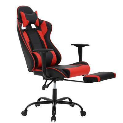 Ergonomic Gaming Chair High Back Racing Office Chair w/Lumbar Support & Footrest
