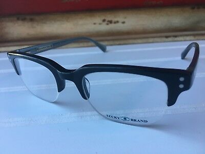 1b3fcc517f5b Lucky Brand Eyeglasses Valencia 48-20-140 Black Frame Half Rim. Option to