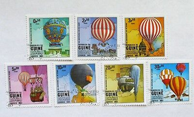 GUINEA BISSAU  SET of 7  AIR BALLOONS   ISSUED 1983 Sc#442-8  SEE PIC