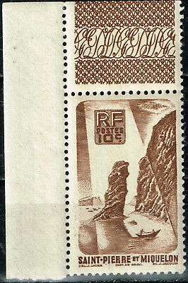 French St. Pierre and Miquelon Islands Stone Pillars View stamp 1939 MNH