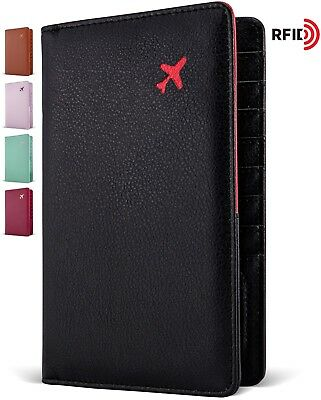 RFID Blocking 2 Passport Holder, Travel Wallet, ID Card Wallet for Men and Women