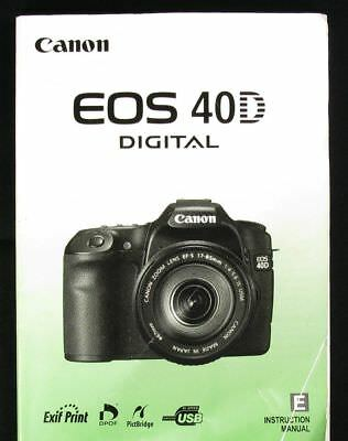 CANON EOS 40D Instruction Owners Manual Book Original w/ disc NEW in