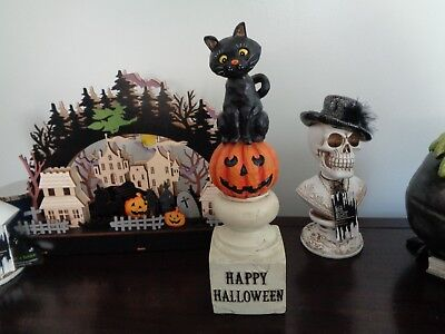 Kari Emerson Plush Jack O/' Cat Pumpkin Doll Retro Vintage Style Halloween Decor