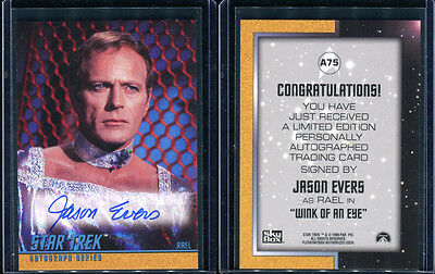 1999 Skybox Star Trek Original TOS Season 3 A75 Jason Evers Autograph Card