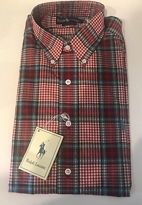 824ee782c72 NewW Tags Vintage Men s Polo By Ralph Lauren Plaid Rare Size 16
