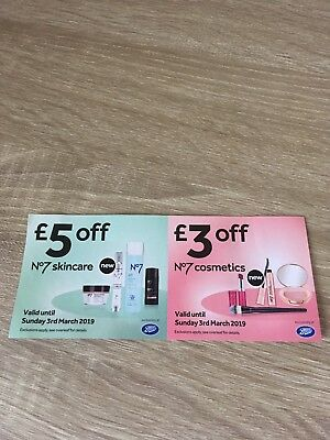 Boots No7 Voucher Expiry 03/03/19 Skin Care Cosmetics Coupon