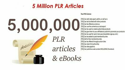 5,000,000 E Books PLR Collection with Master Resell Rights