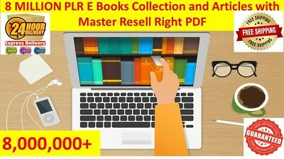 8,000,000 E Books PLR Collection with Master Resell Rights Free Shipping 24hrs