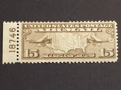 US Airmail Stamp - Scott# C8 Mint Plate Numbered Single