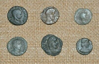 Authentic Ancient 4th Century AD Roman Imperial Bronze Coin Set of 6