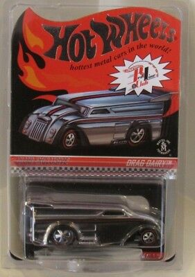 Hot Wheels Drag Dairy Delivery 2014 RLC Membership CHROME Only 3000 Made Redline