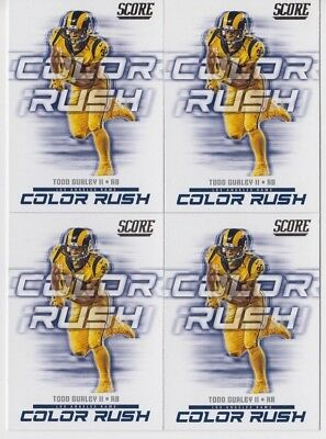 promo code be4c3 d5b04 TWO CARD LOT 2018 Score Football Todd Gurley Color Rush Los ...