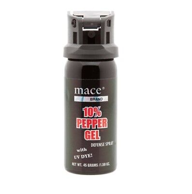 Mace Security 80269 Flip Top Defense 10% Pepper Gel Spray (Contains UV Dye)
