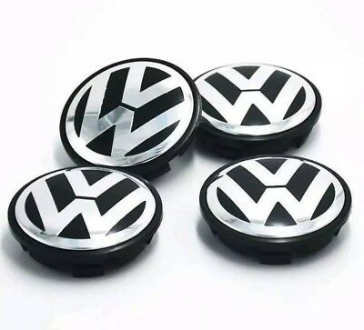 Volkswagen Alloy Wheel Centre Caps 65mm fitsTouran, Tiguan and Touran