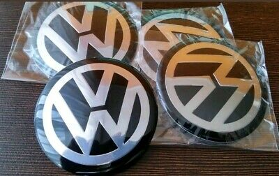 Volkswagen Alloy Hub Caps Stickers 65mm fits most VW Vehicle