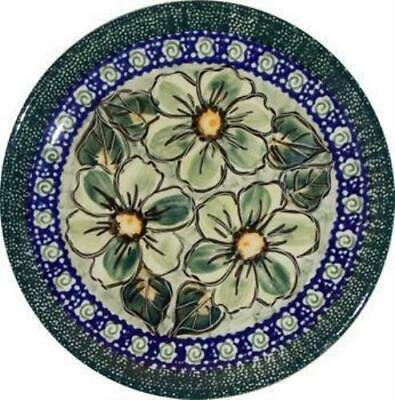 "Boleslawiec Polish Pottery UNIKAT Breakfast, Dessert or Salad Plate ""Green Garde"