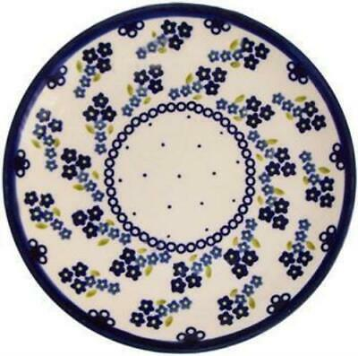 "Boleslawiec Polish Pottery UNIKAT Breakfast, Salad or Dessert Plate ""Forget Me N"