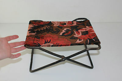 OLD Folding Cast Iron Child Booster Seat Horse Buggy Wagon Carriage Foot Stool