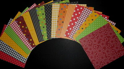 """18 COLOURFUL PATTERNED Scrapbooking/Cardmaking Papers **15cm x 15cm** (6"""" X 6"""")"""