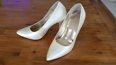 Panache Ivory Italian Silk Bridal Wedding High Heel Pump Shoes